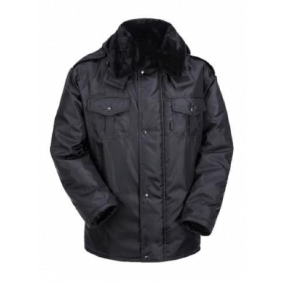 Куртка удл.с меховым воротником+капюшон