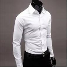 Классическая рубашка для охранника белая
