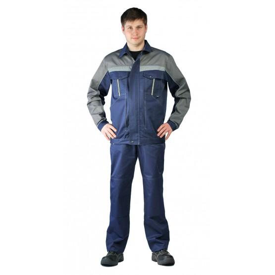 Костюм мужской Оптимальный летний с брюками т.синий.серый