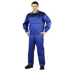 Костюм мужской Рейнир васильковый с т-синим